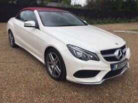 Mercedes e220 cdi convertible 65 reg white red roof and leather