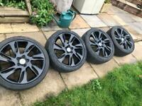 "18"" 5x108 Volvo V40 C30 R design Style Alloy Wheels & 225/40/18 Tyres Black"