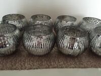 Silver Mercury glass tealight votives - decorative, wedding