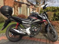 2015 Honda CB125F, low mileage and very good condition