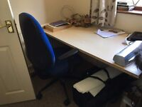 Contents of home office for sale - chairs, desks, shelving, drawer units