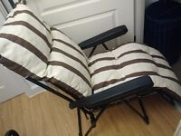 Garden/patio Deck chair hardly used