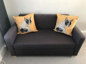 Small grey sofabed