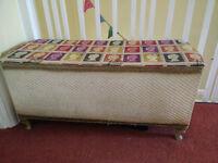 Vintage Lloyd Loom Ottoman