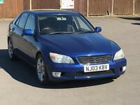CHEAPEST 2003 LEXUS IS200 LONG MOT DRIVES GREAT LEATHER SUNROOF PARKING SENSORS