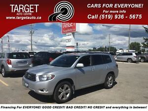 2009 Toyota Highlander V6 Sport, Loaded; Leather, 7-Pass, Drives