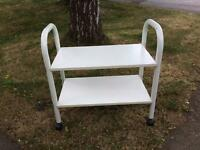 Trolley side table with wheels two shelves