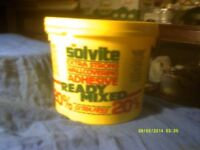 SOLVITE EXTRA STRONG READY MIXED WALLPAPER ADHESIVE 3 Kg TUBS , UN OPENED £ 5. EACH .++