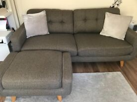 3 seater sofa and footstool for sale - great condition