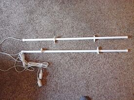 Two Electric Tube wardrobe heaters