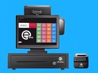 """Complete EPOS system. All in one 15"""" touch screen, brand new"""