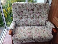 Settee / Sofa - Two Seater - Wooden Frame