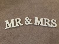 Wedding Decorations - Mrs & Mrs and LOVE Stand-up Letters