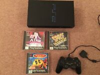 Sony PlayStation 2 PS2 Console and games.