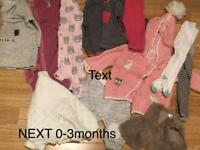 Girls NEXT clothes 0-24mths (will sell separately)
