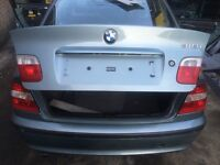 BMW E46 SALOON FACELIFT TAILGATE BOOTLID GRAUGRUN GREEN 442 NO RUST