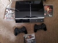 Ps3 for sale with 3 games (if you want)