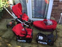 Bebe Confort Elea Baby Car Seat and Base, Stroller, Carry Cot/Bassinet Pram, Buggy /Pushchair