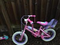 Girls bike and scooter