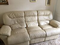 3 Seater and 1 Chair Electric Recliners -Cream