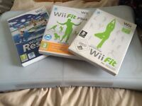 Wii fit board with cover & 3 'games'