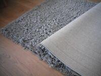 John Lewis shaggy light /slate grey rug