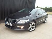 2009 (59) Volkswagen CC 2.0 TDI GT 4dr Auto DSG High Spec Full Black Leather Big Screen May Px