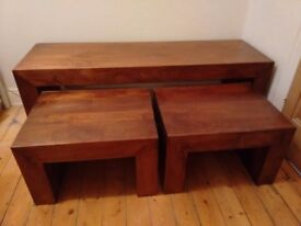 Nest of `Long John` coffee tables.