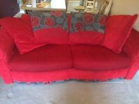 Red 3seater /sofa bed /chaise extension/footstool
