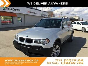 2005 BMW X3 3.0i AWD, LEATHER, HEATED SEATS, SUNROOF!