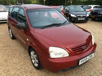 2005 KIA CARENS 2.0 GS METALIC RED 5DR HATCHBACK