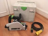Festool TS 55 REQ-Plus Plunge-cut (rail/track) saw, GB 110v unregistered (RRP: £474)