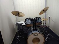 Pearl Vision SST Birch 6 piece drum kit with Sabian Pro cymbals.