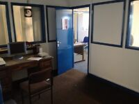 First floor spacious office or workshop with kitchen- toilet plus more office space if required.