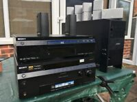 Bose surround system complete with Sony AV 7:1 amp; Sony Blue Ray player and wireless reciever