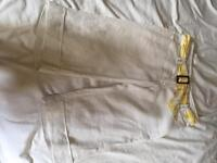 Fab white linen shorts size 12