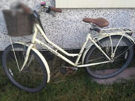 Ladies bike with basket for sale