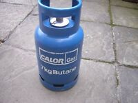 Blue gas bottle full and sealed
