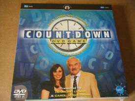"""Countdown DVD board game. By Upstarts games 2006. New and Sealed."