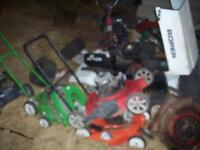 Free pick-up of old non working riding lawn mowers
