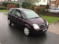 VAUXHALL MERIVA 1.4 5 DOOR HATCH..LONG MOT. LOOKS AND DRIVES SUPERB