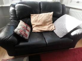 Black leather suite 1, 2 and 3 seats