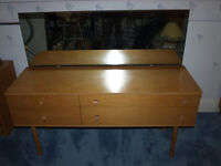 Vintage 1960s teak dressing table by Avalon