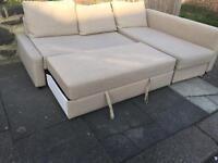 Ikea Beige sofabed with storage