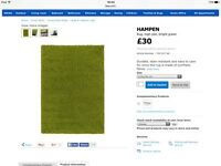 Ikea rugs one green one cream
