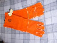 Steiner LARGE Burnt Orange Welding Gloves 23 Inch Length Keviar Sewn 21923 BNWT