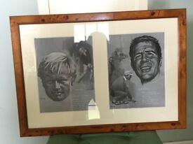Framed Golfing Greats Print
