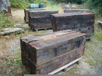 reclaimed oak blocks sleepers beams