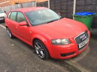 AUDI A3 2.0 TDI SPORTSBACK 2006 06 REG RUNS AND DRIVES WELL