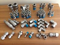 Stainless Steel Swagelok tube fittings and quick connects